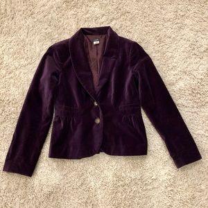 J. Crew Purple Velvet Blazer
